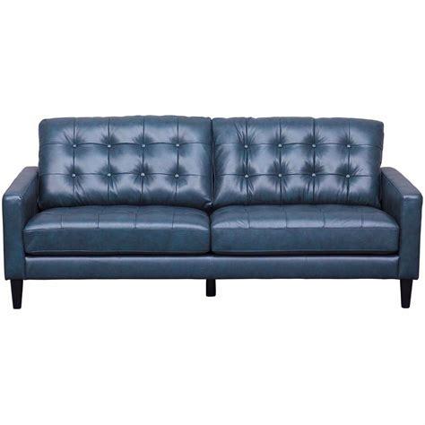 Navy Sofa by Ashton Navy Leather Sofa As 5957br Nblu 3 Abbyson