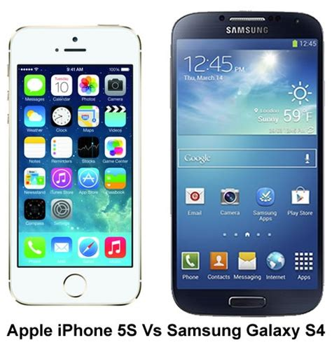 iphone vs galaxy apple iphone 5s vs samsung galaxy s4