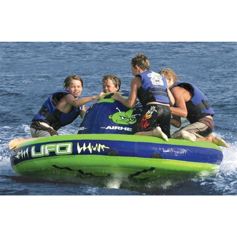 Boat Tubes That Spin by Airhead 174 Ufo 4 Person Towable 139782 Tubes Towables