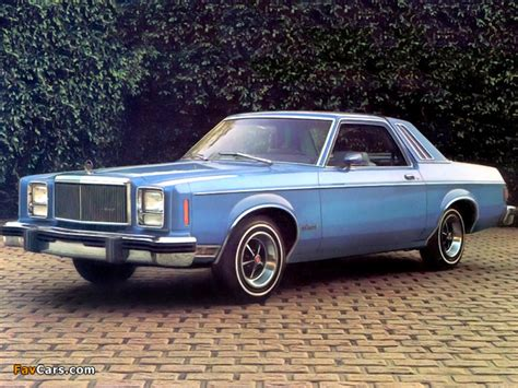 Mercury Monarch 2-door Coupe 1978 wallpapers (640x480)