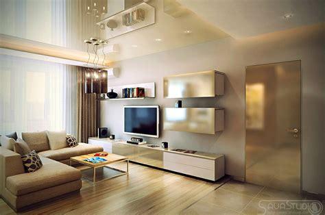 living room l modern design in modest proportions
