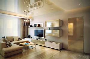 Neutral living room l shaped sofa interior design ideas for Interior decorating l shaped living room