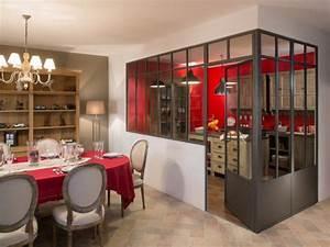 une verriere a deux pans pour separer la cuisine du salon With verriere entre cuisine et salle À manger pour deco cuisine
