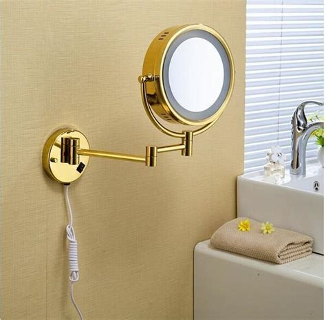 Retractable Mirror Bathroom by 360 Retractable Wall Mounted Mirror Led Cosmetic Mirror