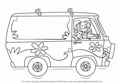 Scooby Doo Mystery Machine Draw Step Drawing