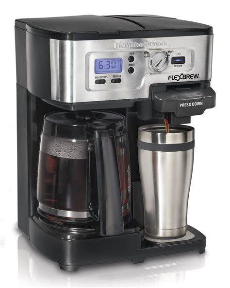 This gives you flexibility and freedom in customizing your. Hamilton Beach FlexBrew Single Serve Full Pot Coffee Maker Coffee and TEA, Coffee Tools, Coffee ...