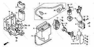 Honda Motorcycle 1999 Oem Parts Diagram For Battery  1
