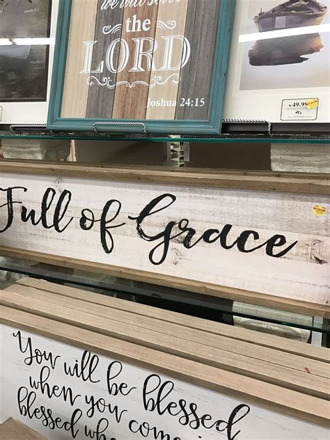 Hobby lobby charges shipping based on the subtotal of your order after coupons are applied. Hobby lobby $23 Full of Grace sign | Home decor, Home signs, Home living room