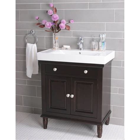 You may found another single sink bathroom vanity with makeup table higher design concepts. How to Renovate A Narrow Depth Bathroom Vanity ...
