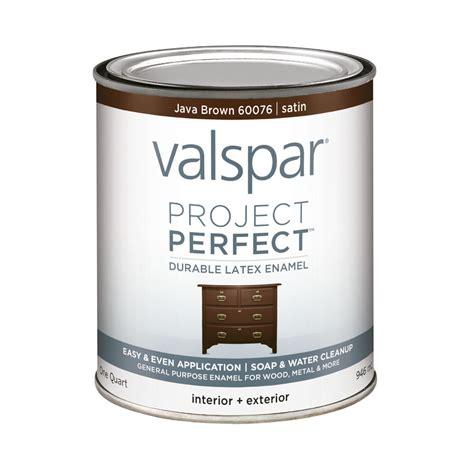 Shop Valspar Project Perfect Java Brown Satin Latex Enamel