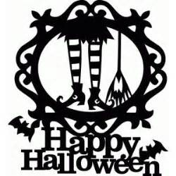 silhouette design store halloween witch boot broom title