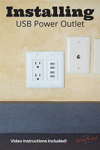 Installing A Usb Power Outlet Wall Charger  With Video