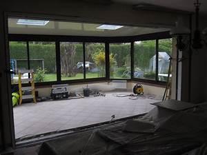 renovation maison agrandissement porte fenetre nicolas With porte de garage enroulable de plus porte vitrée coulissante intérieur