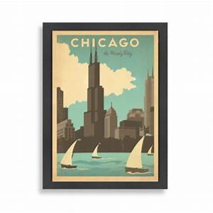 buy americanflat chicago magnificent mile framed wall art With chicago wall art