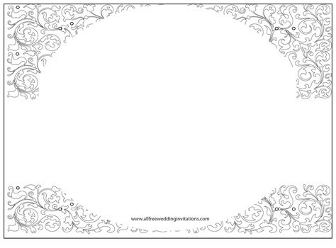 free wedding templates white wedding all free wedding invitations
