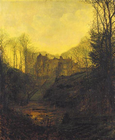 manor house  autumn john atkinson grimshaw wikiart