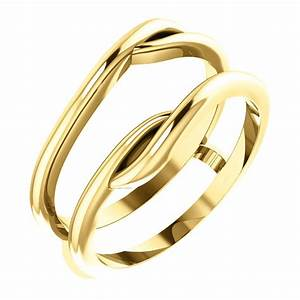 14kt yellow gold ring guard engagement wedding ring With wedding ring enhancers yellow gold