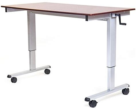 ergonomic standing computer table w crank lever height adjustable 29 42 75 quot