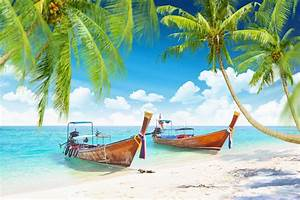 Tropical islands with boats - Beach - Nature - Categories