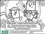 Coloring Wubbzy Pages Treasure Fun There Believes Wow Camping Boat Map sketch template