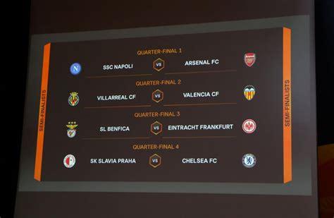 europa league quarterfinals  semifinals draw