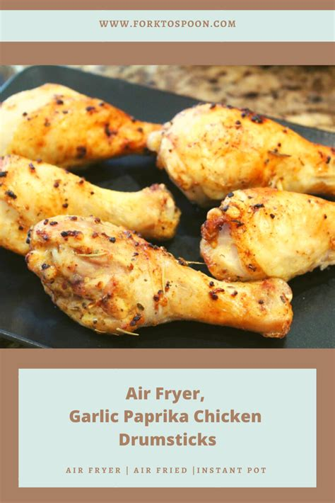 air fryer chicken drumsticks legs garlic paprika quarter leg fried cook