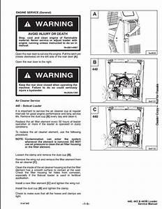 Bobcat 440 443 443b Skid Steer Loader Service Repair Workshop Manual