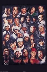 Rap Legends Art Collage Poster 24x36 Music Rapper