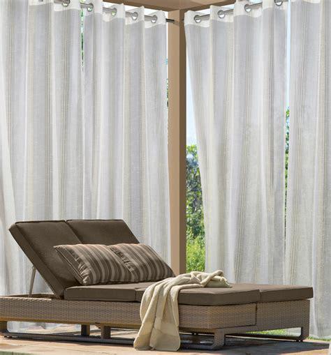 louisa outdoor semi sheer grommet curtain panel stripe