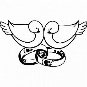 Dessin Couple Mariage Couleur : coloriage deux colombes sur alliance de mariage dessin ~ Melissatoandfro.com Idées de Décoration