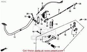 Honda Cmx250c Rebel 1987  H  Usa California Pedal