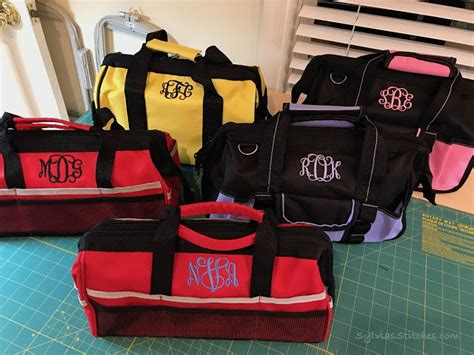 monogram tool bags  gifts sylvias stitches