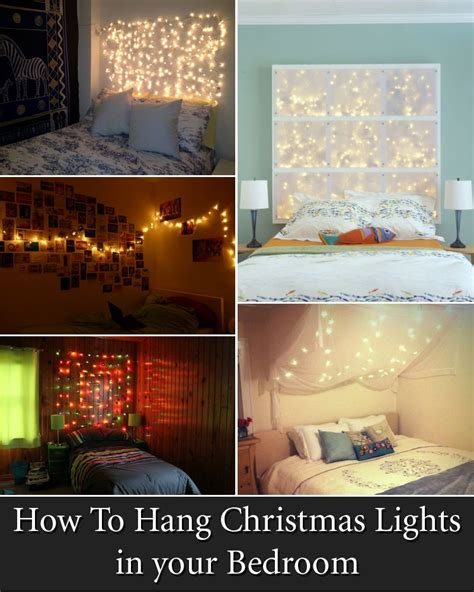 12 cool ways to put up lights in your bedroom