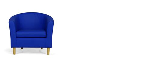 blue faux leather tub chair tubchairs