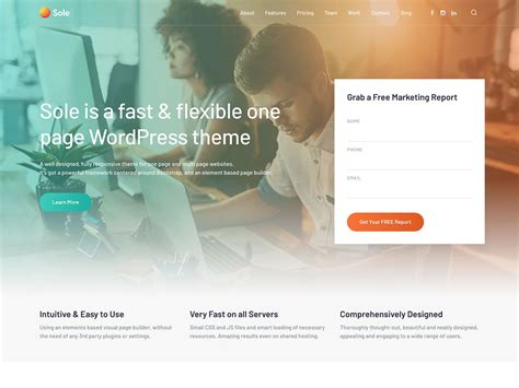 40 best one page themes 2019 athemes