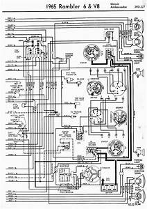 Wiring Diagrams Of 1965 Rambler 6 And V8 Classic And