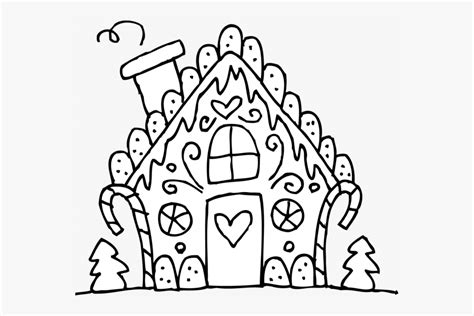 Christmas Coloring Pages Printable Gingerbread House
