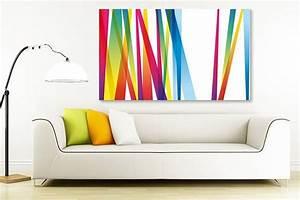 Tableau Deco Design : tableau lignes abstraites ~ Melissatoandfro.com Idées de Décoration