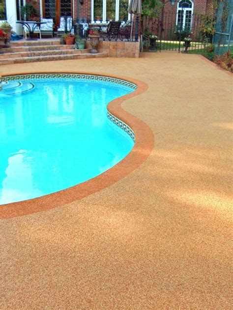 rubberized pool deck coating re surfaced pool deck by rubaroc rubber safety surfacing
