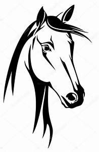 Pferdekopf Schwarz Weiß : pferde kopf stockvektor cattallina 51905669 ~ Watch28wear.com Haus und Dekorationen