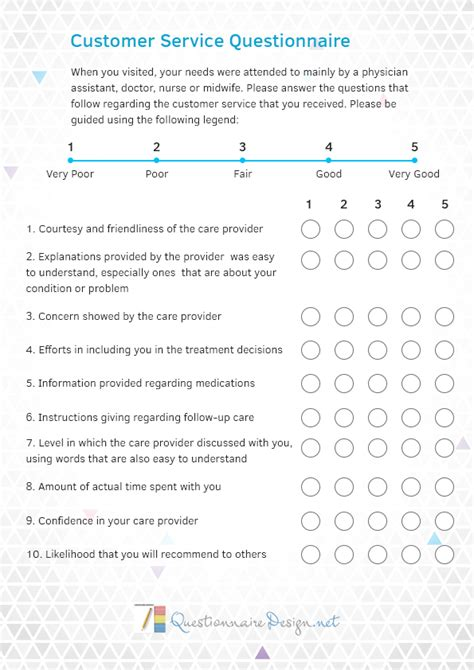 pin  questionnaire samples  customer service