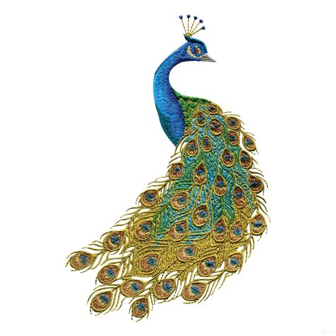 peacock applique peacock colors for home swnpa135 peacock embroidery