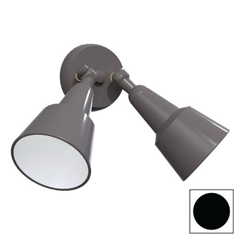 shop remcraft lighting swedish modern black outdoor flush mount light  lowescom