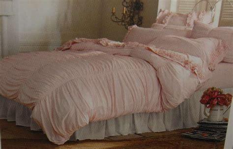 shabby chic ruched bedding rachel ashwell shabby chic pink ruched comforter duvet ebay