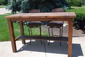 hand made unique barn wood bar height table by gw designs With barnwood counter height table
