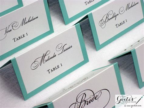 double sided place cards tent cards guest cards wedding by