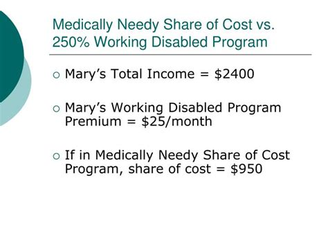 medi cal  working disabled program breaking    cycle  poverty powerpoint