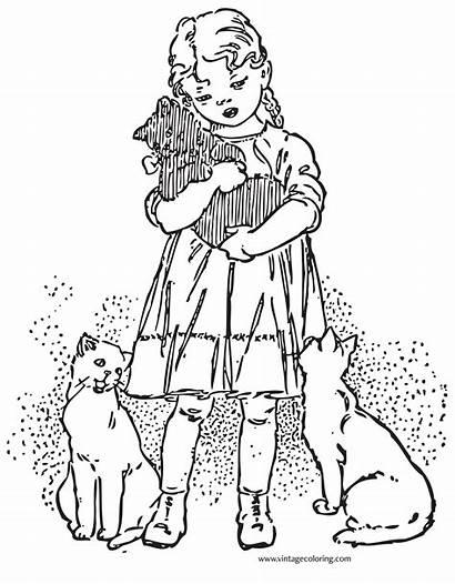 Coloring Favorite Vintagecoloring Kitten Cat