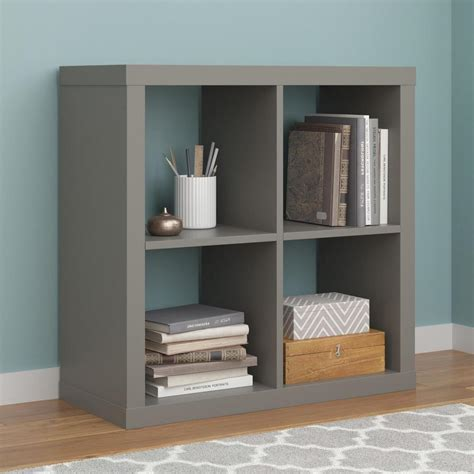 Parsons Bookcase by Ameriwood Parsons Gray Bookcase 7682696com The Home Depot