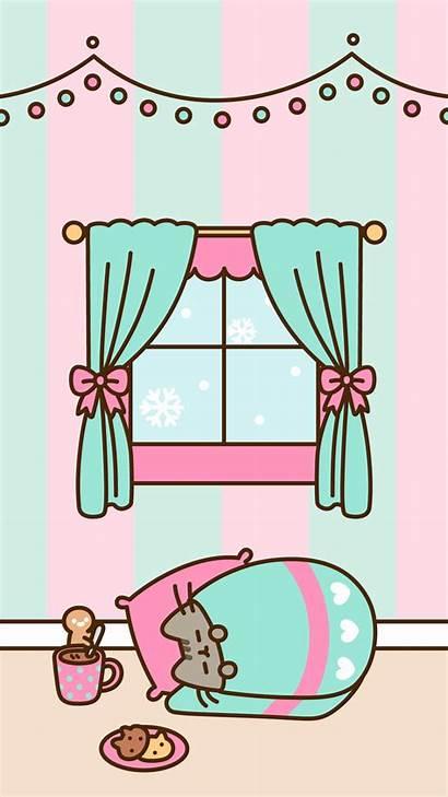 Pusheen Christmas Lockscreen Winter Gato Kawaii Android